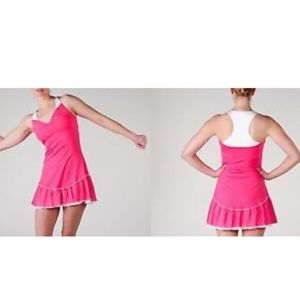 NEW Nike Womens FLIRT Tennis Dress ruffle skirt